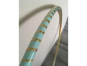 Polypro obruč hulahoop 19 mm Mint - zlatá