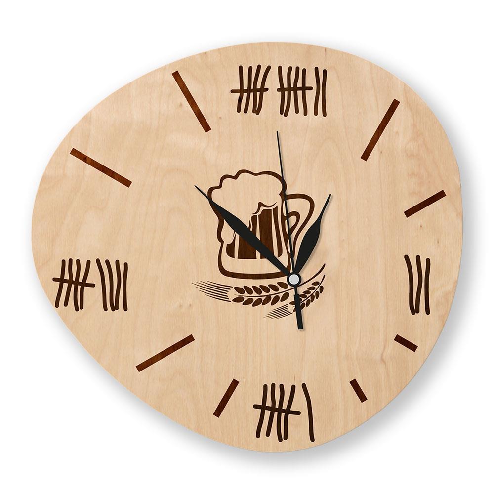 Dřevěné hodiny s vlastním motivem