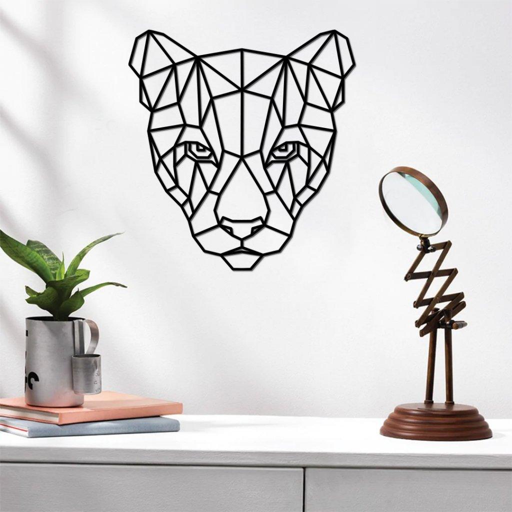 Dřevěná dekorace puma