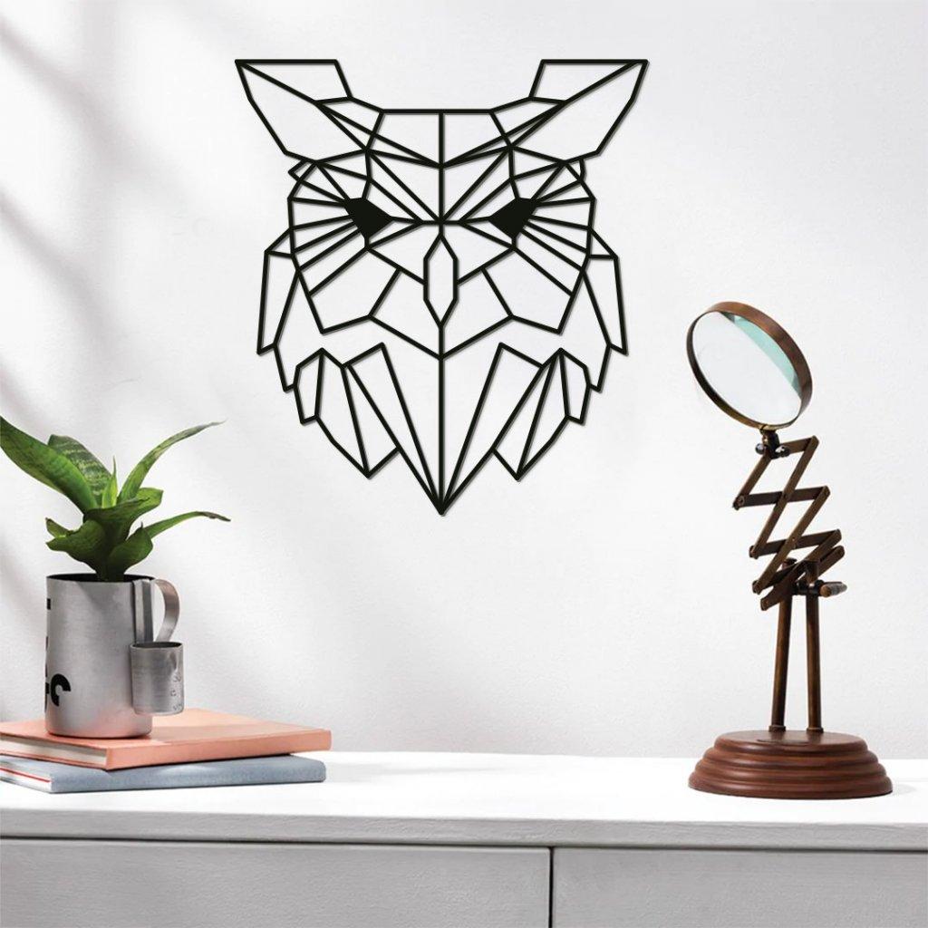 Dřevěná dekorace sova