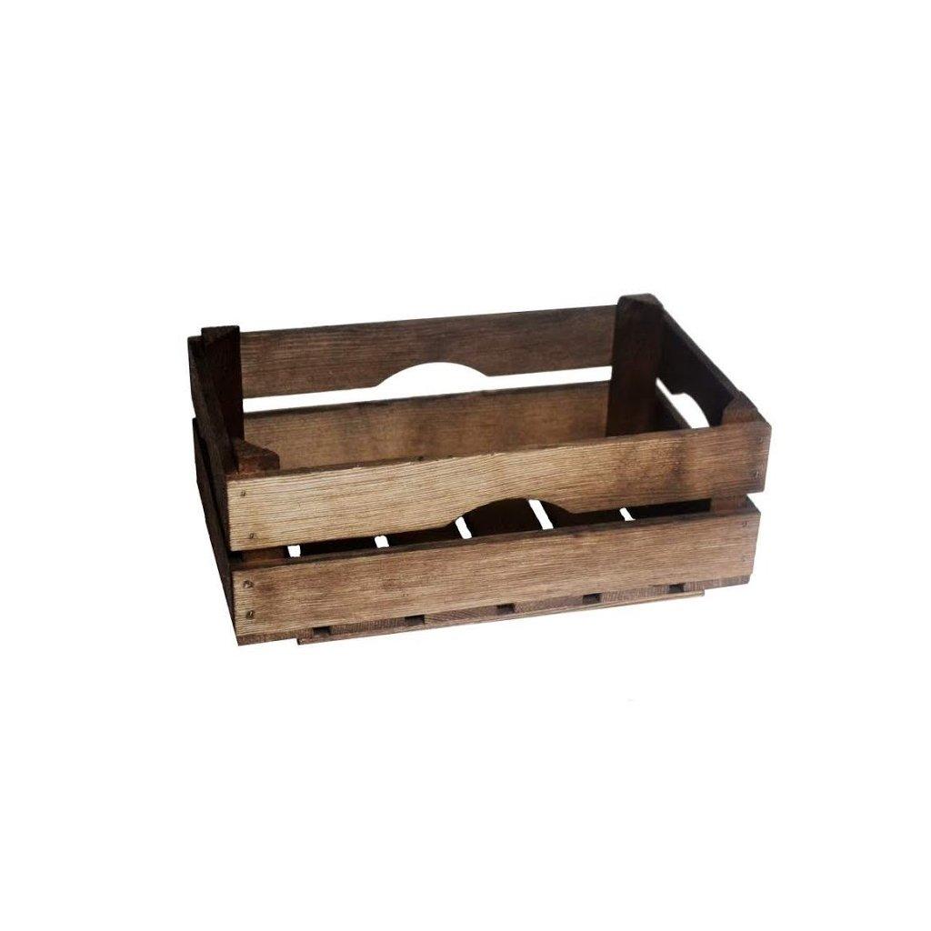 Dřevěná bedýnka 34 x 20 x 12.5 - mořená