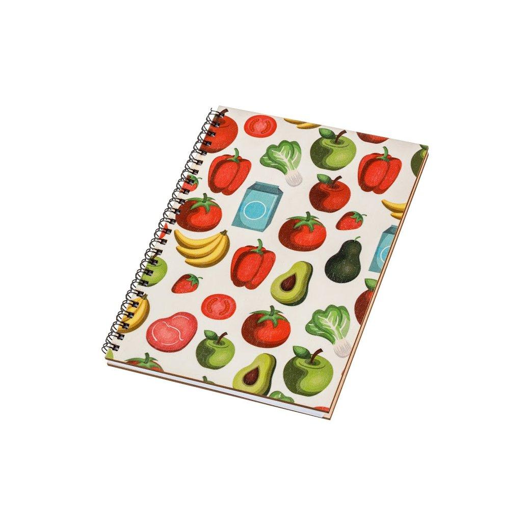 Dřevěný blok A5 - ovoce a zelenina