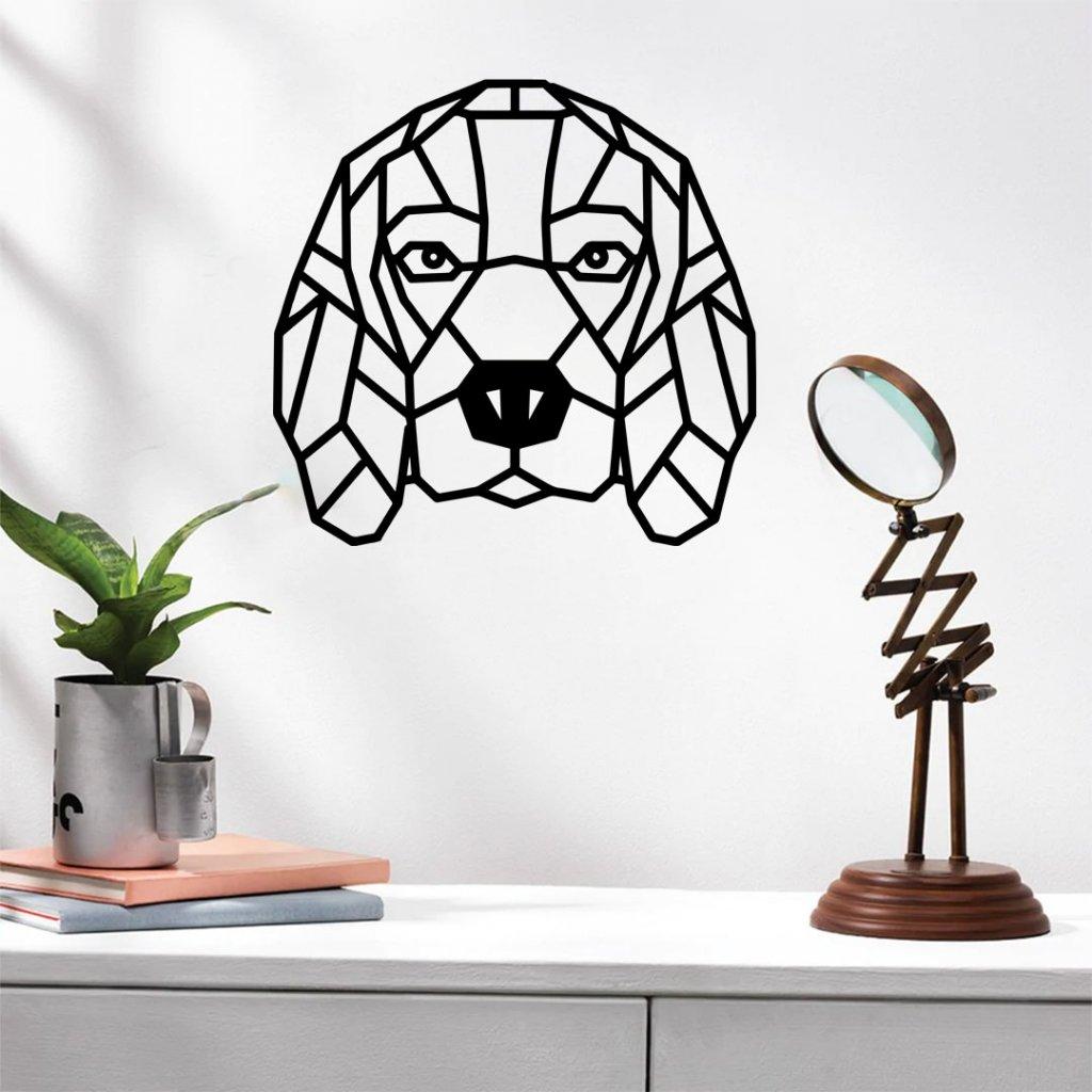 Dřevěná dekorace beagle bígl