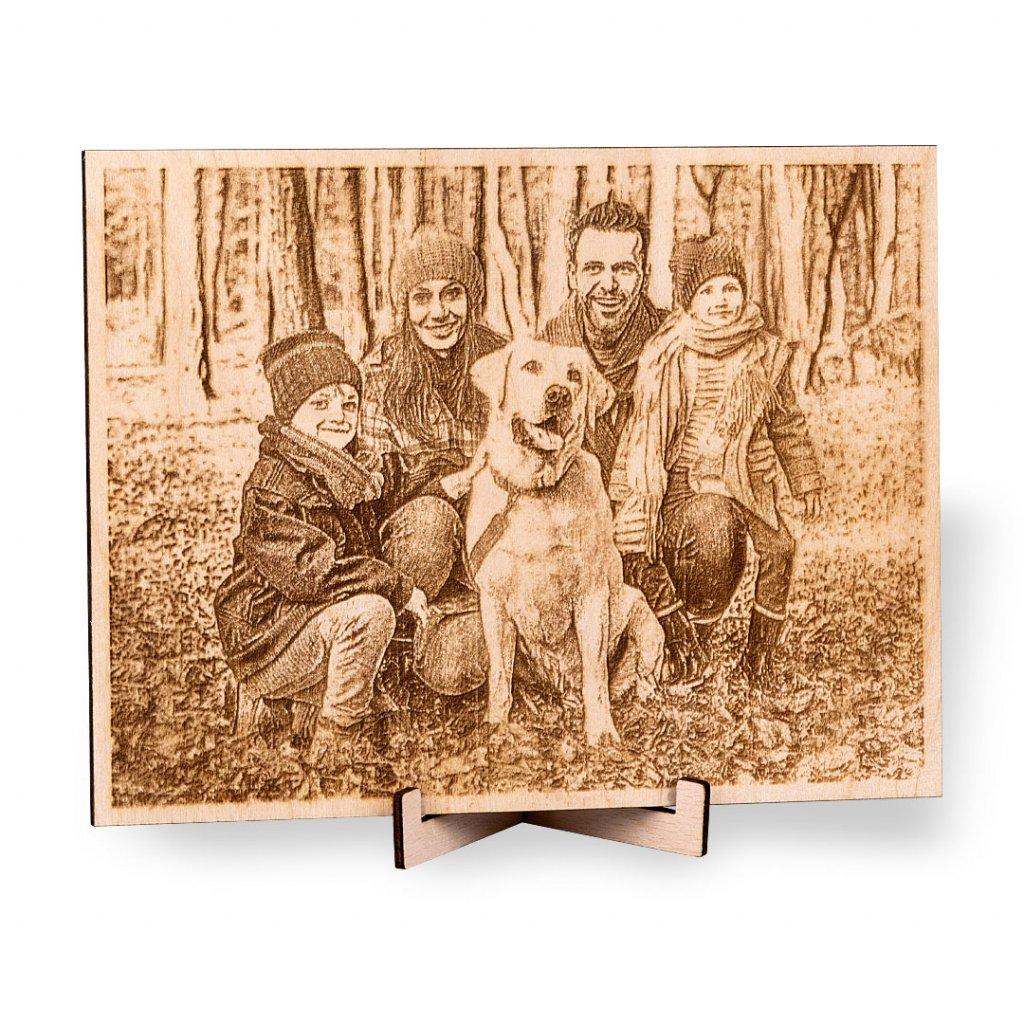 Fotka na dřevě HOORAY