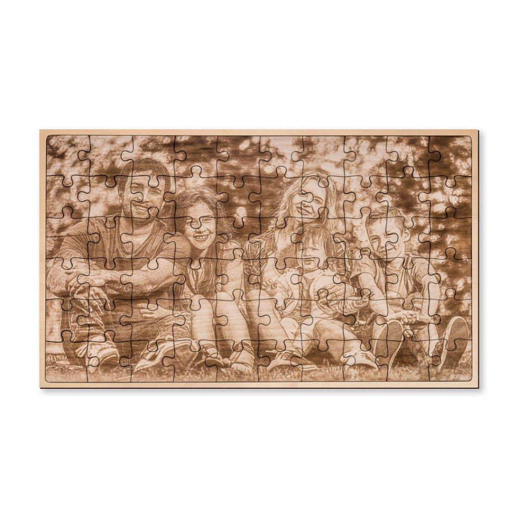 Dřevěné puzzle z fotografie HOORAY