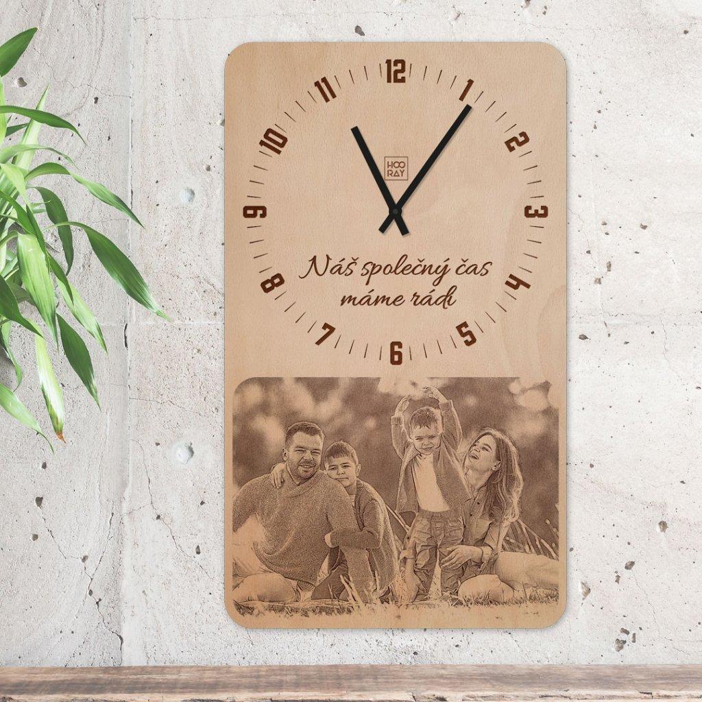 Nástěnné hodiny Jumbo s vlastní fotografií Classic