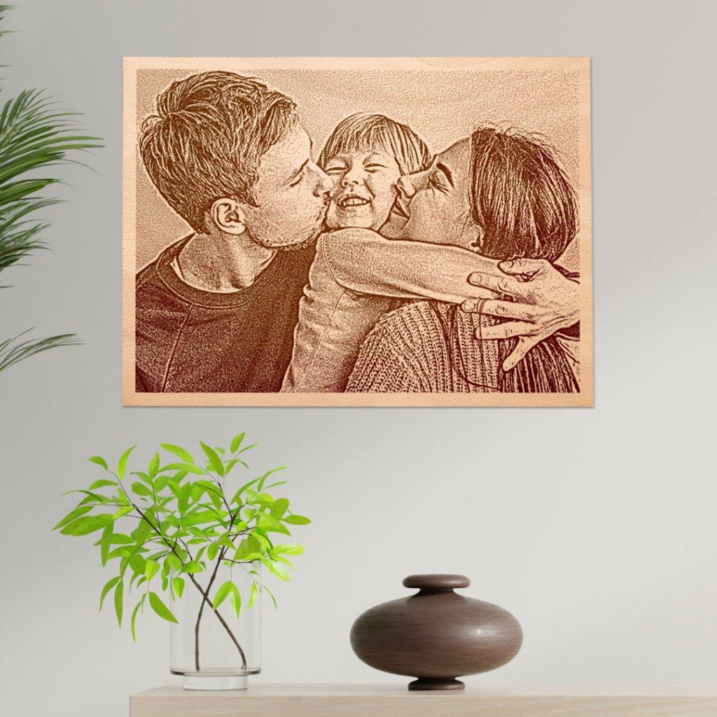 Fotoobraz na dřevě HOORAY