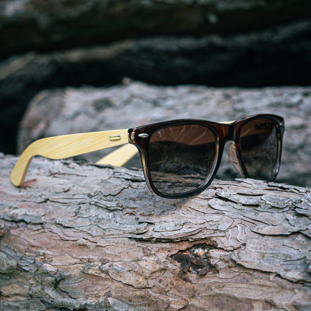 Sluneční brýle s bambusovými nožičkami - Čajový rámeček s čajovými sklíčky