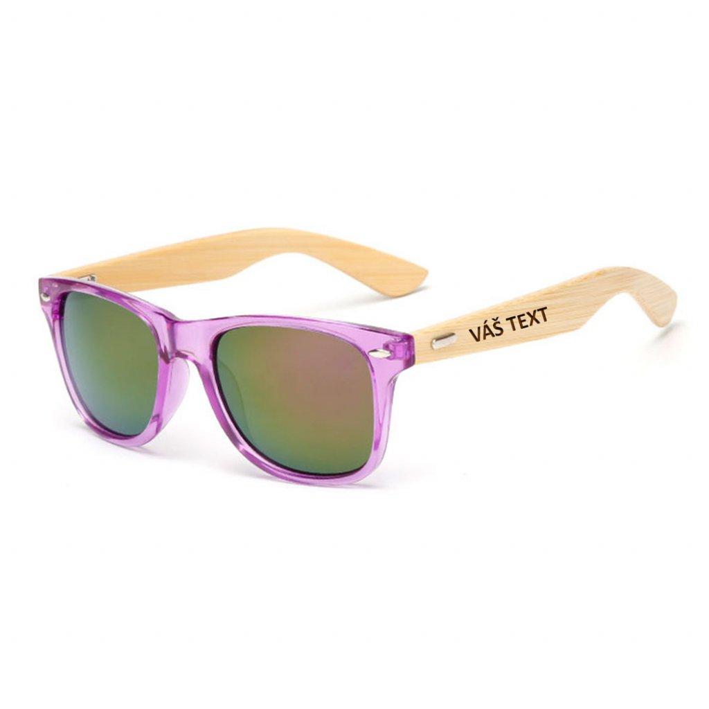 Sluneční brýle s vlastním textem - fialové