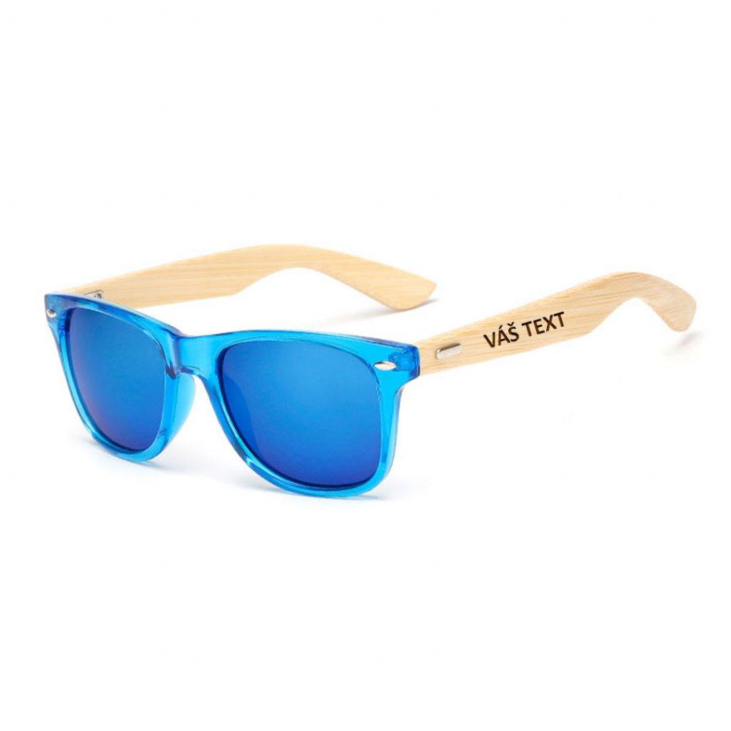 Sluneční brýle s vlastním textem - modré