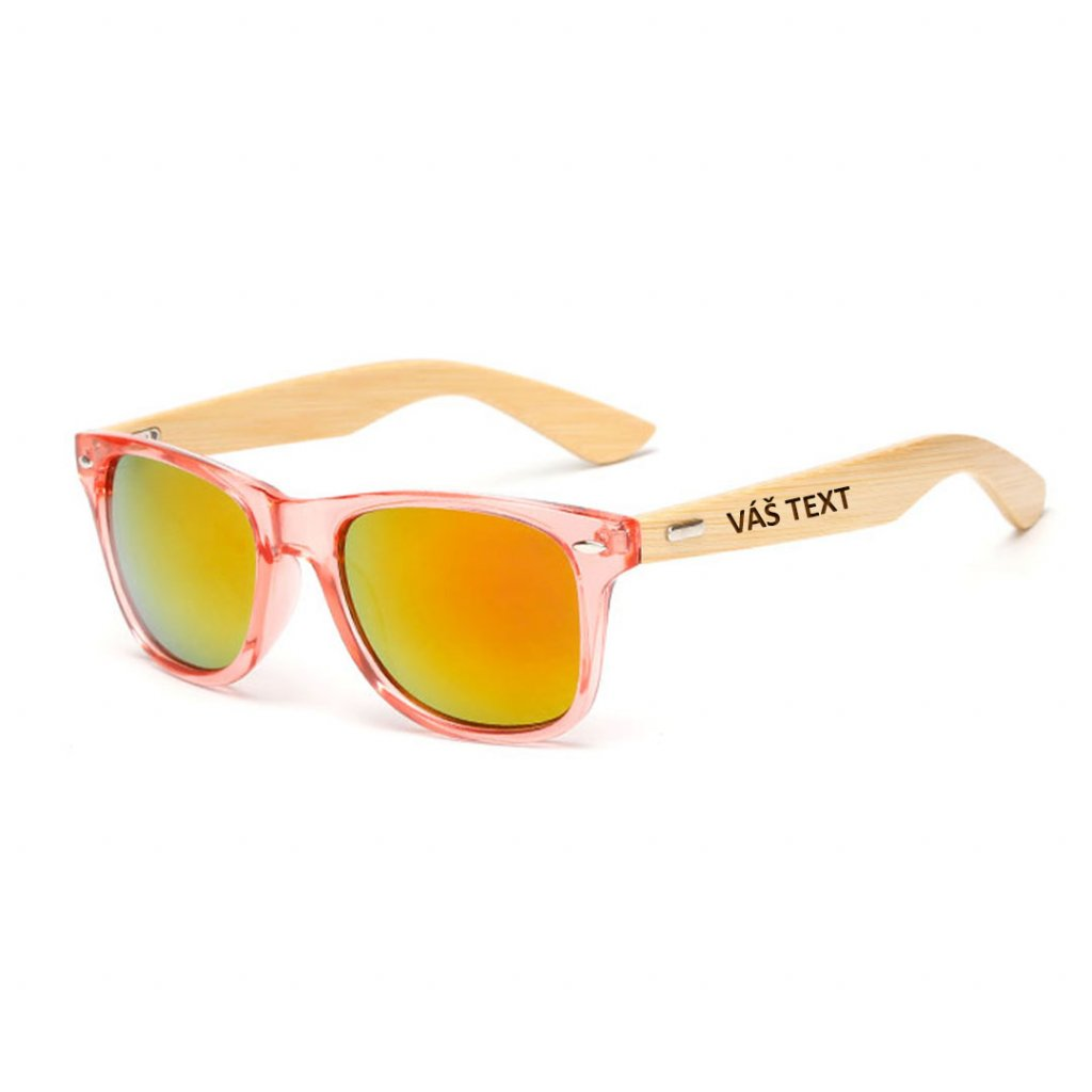 Sluneční brýle s vlastním textem - červené