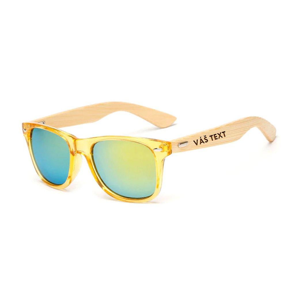Sluneční brýle s vlastním textem - zlaté