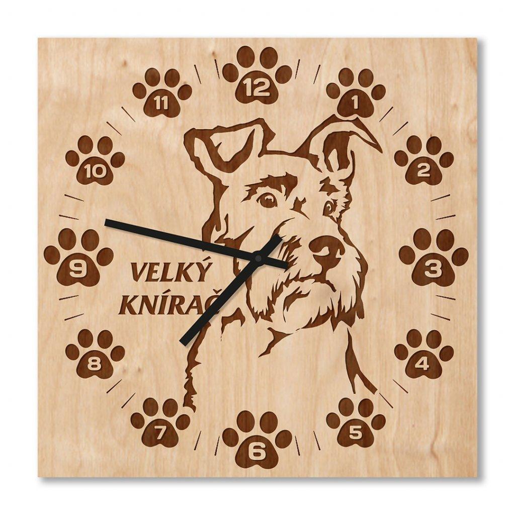 Dřevěné hodiny knírač
