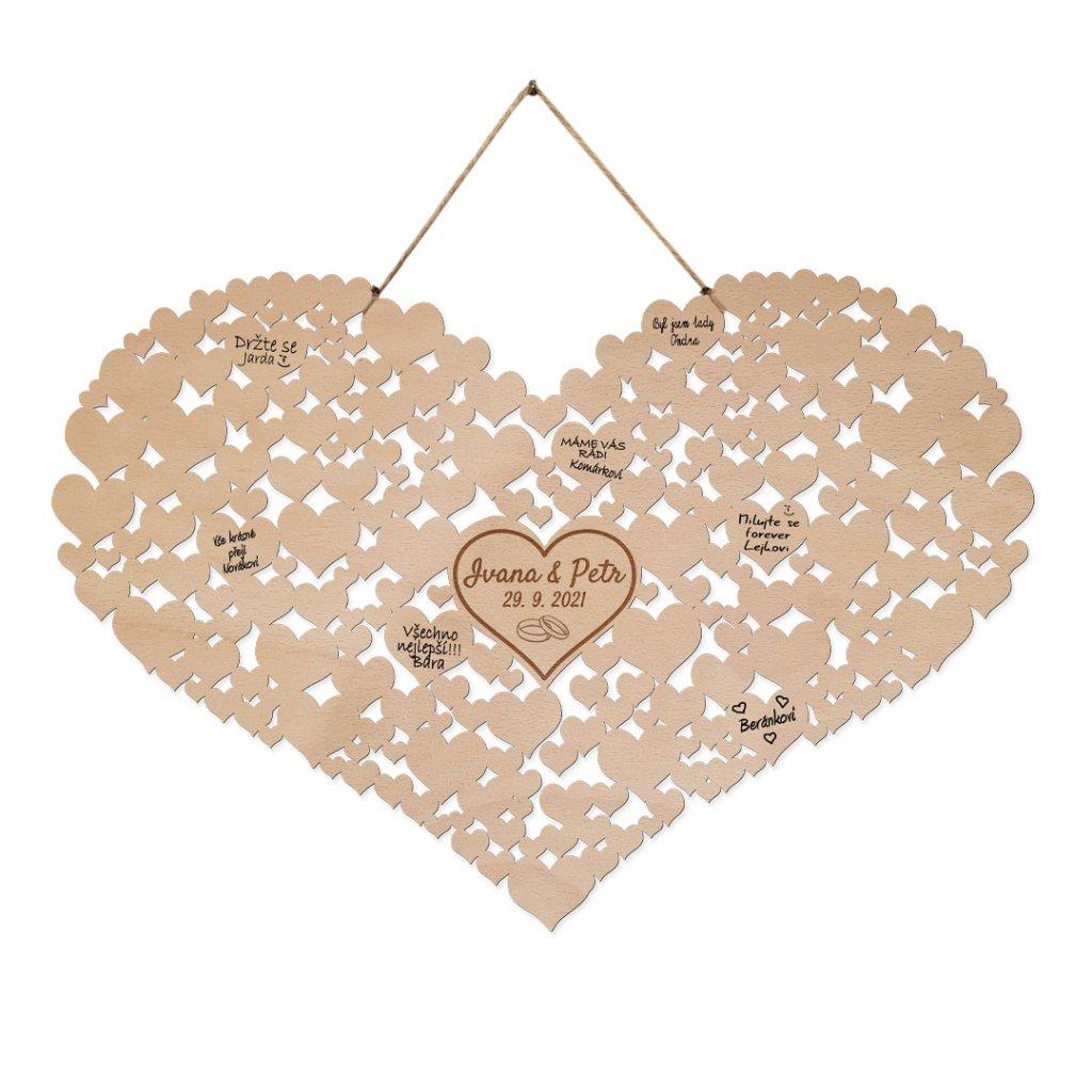 Srdce ze srdcí na svatební podpisy
