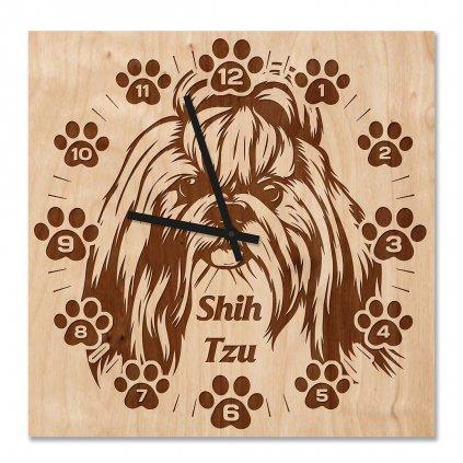 Nástěnné hodiny Shih-tzu