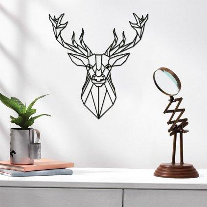 Dřevěná dekorace na zeď - jelen