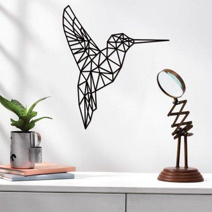 Dřevěná dekorace kolibřík