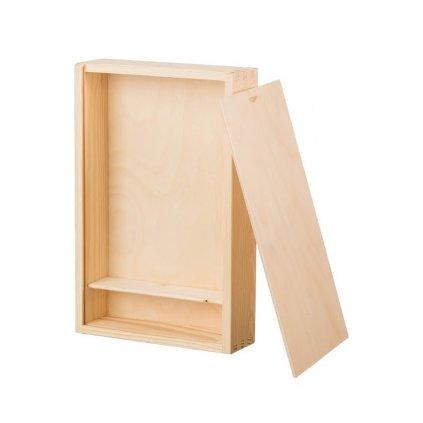 Dřevěná krabička na fotografie ve formátu 15x21 cm