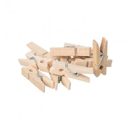 Dřevěné mini kolíčky - 10 ks