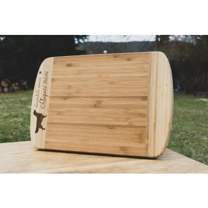Kuchyňské prkénko z bambusu s vlastním motivem 20x30cm