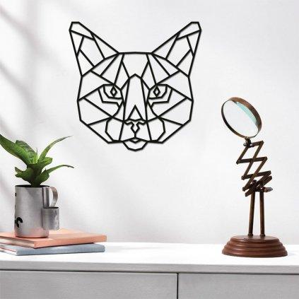 Dekorace na zeď ve tvaru kočka
