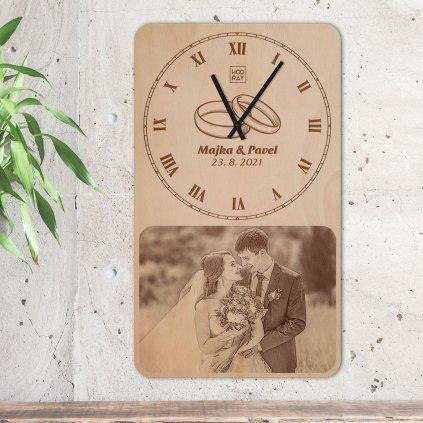 Nástěnné hodiny Jumbo s vlastní fotografií Velký den