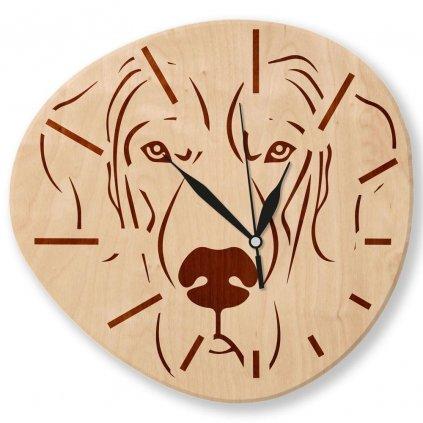 Dřevěné nástěnné hodiny - Pejsek