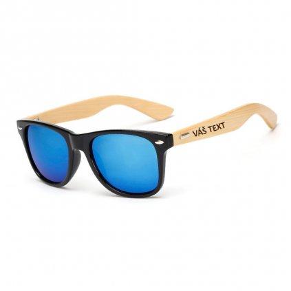 Sluneční brýle s vlastním textem - černomodré