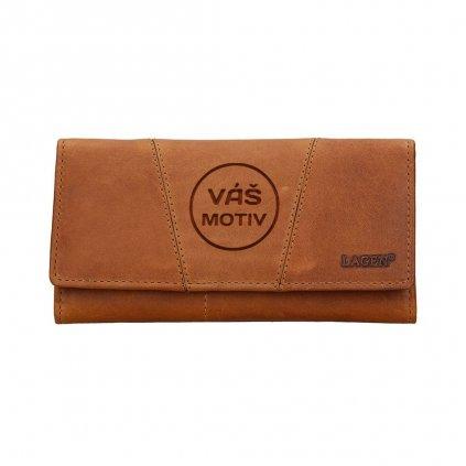 Dámská kožená peněženka s vlastním motivem