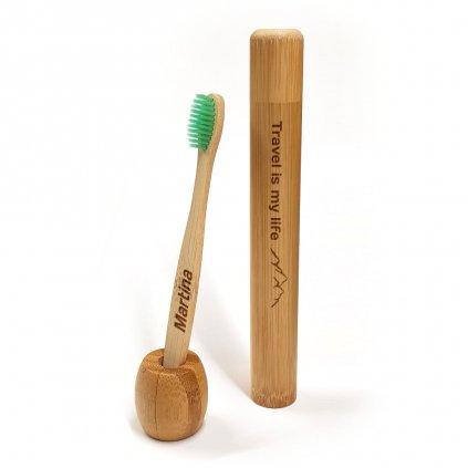 Bambusový kartáček s gravírováním