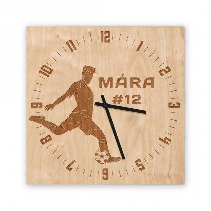 Dřevěné hodiny fotbal fotbalista