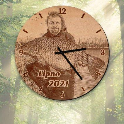 Nástěnné hodiny s vlastní fotografií nebo logem