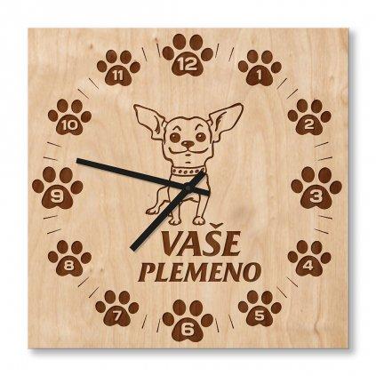 Dřevěné hodiny s vaším plemenem