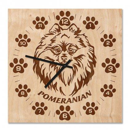 Dřevěné hodiny pomerian