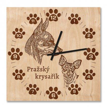 Nástěnné hodiny Pražský krysařík
