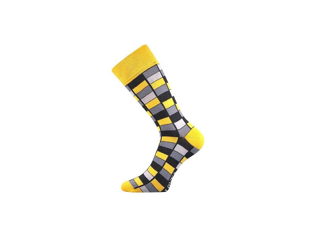 Ponožky sportovní LONKA  Woodoo, žlutá