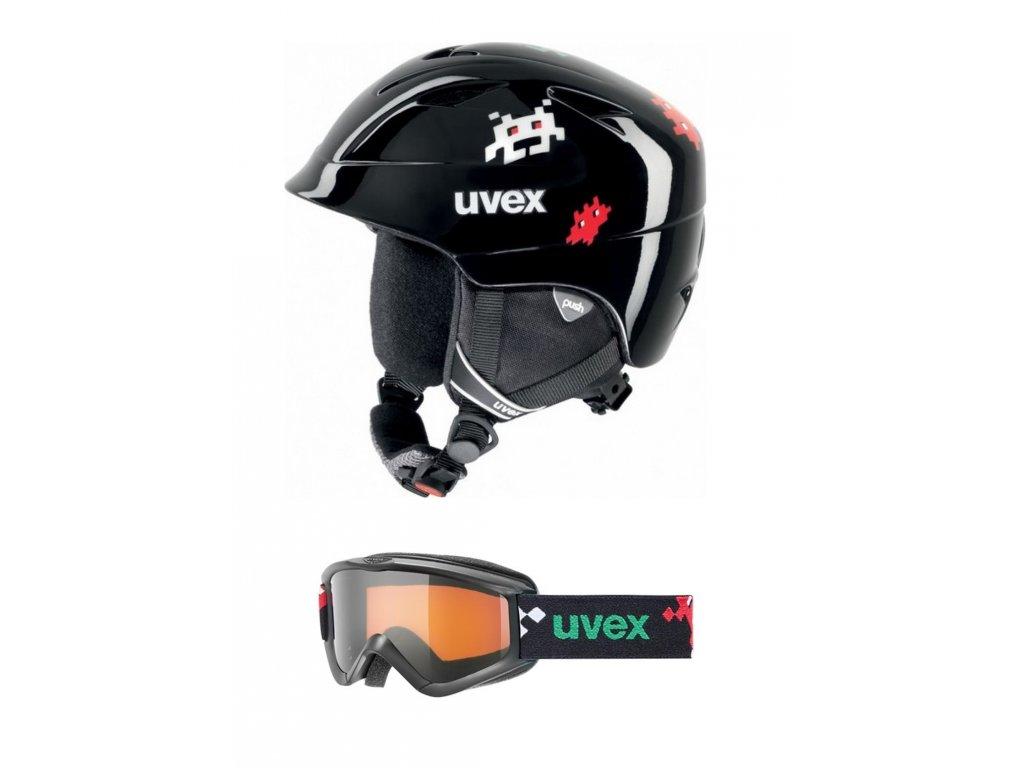 Helma Uvex Airwing 2 + brýle Uvex Speedy Pro