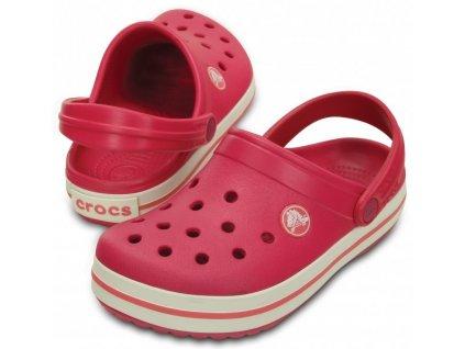 Crocs Crocband Kids raspberry/white (Velikost C12/13)