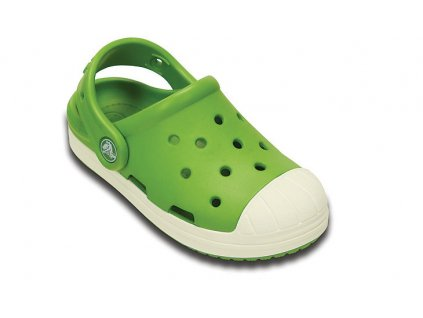 Dětské Crocs Bump It Clog parrot green/oyster (Velikost C11)