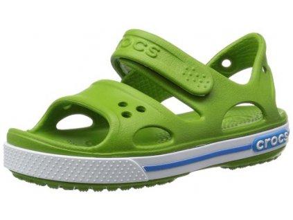 Dětské Crocs Crocband II Sandal PS parrot green/ocean (Velikost C13)