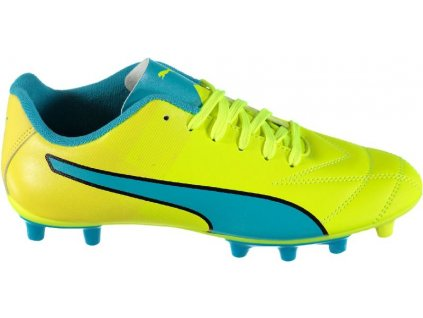 Kopačky Puma Adreno II FG, safety yellow/atomic blue (Velikost UK 7)