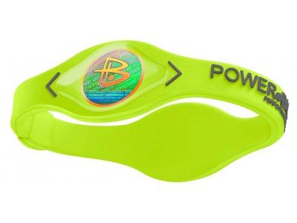 Power Balance Silikon, lime/silver (Velikost XS-16cm)