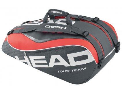 Tenisová taška Head Tour Team 9R Supercombi, black/red/white