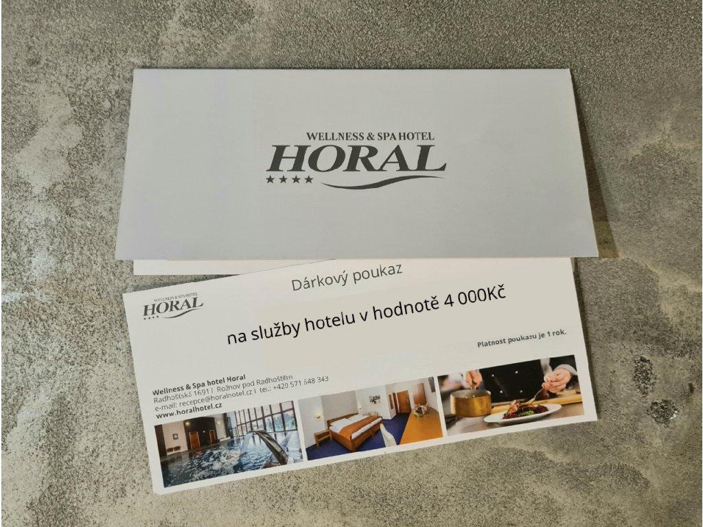 na služby hotelu v hodnotě 1 000Kč (4)