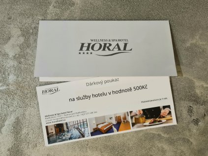 na služby hotelu v hodnotě 1 000Kč (1)