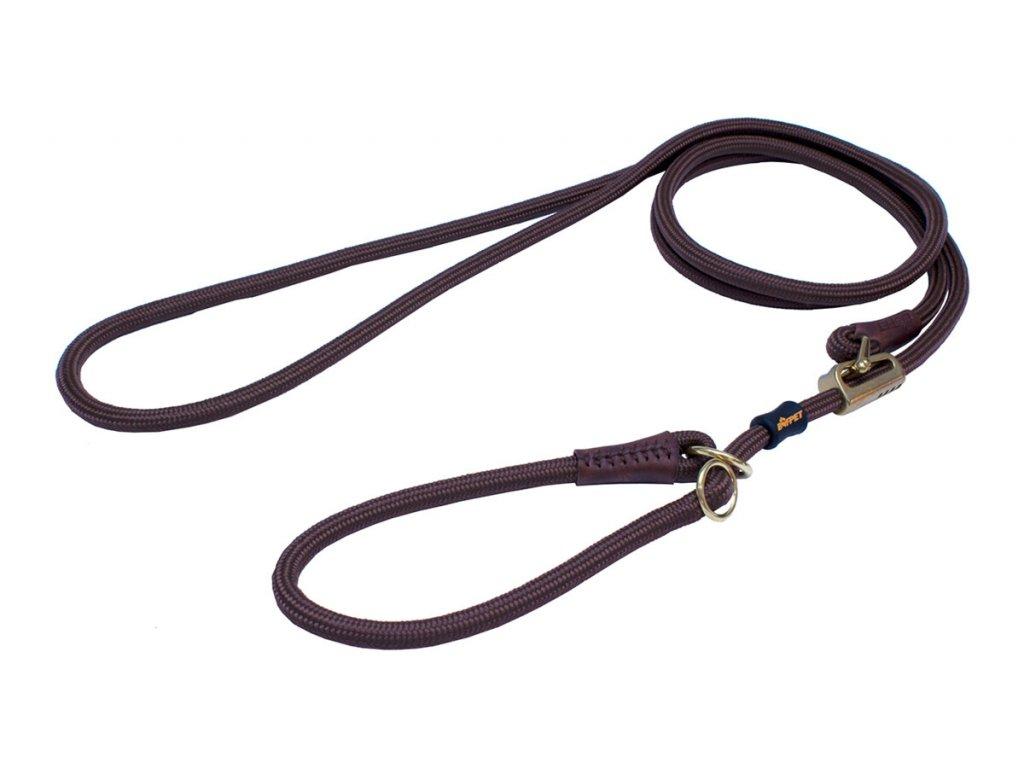 posuvne voditko z lana a kuze s obojkem bronz
