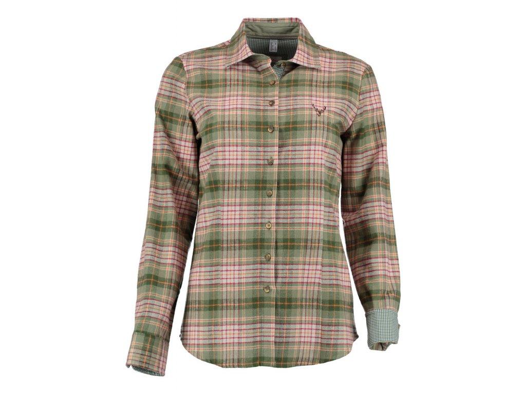 Flanelová košile olivová