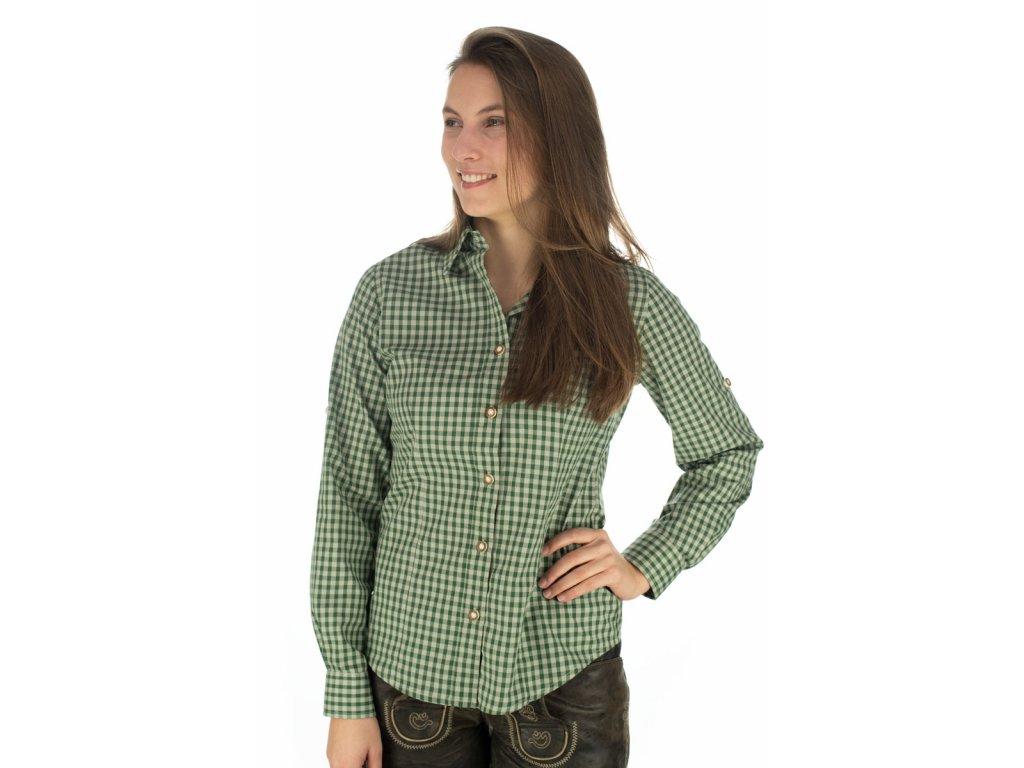 Dámská košile horalská zelená