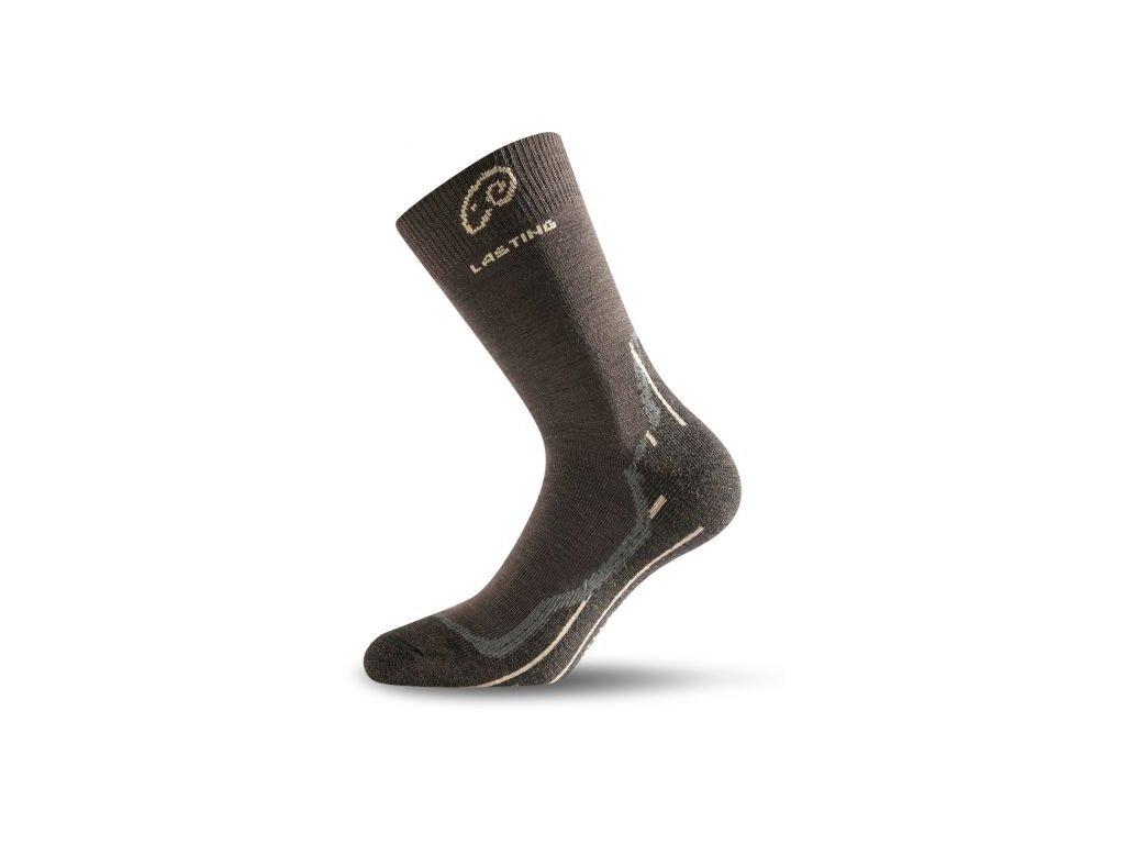 lasting merino ponozky whi hnede