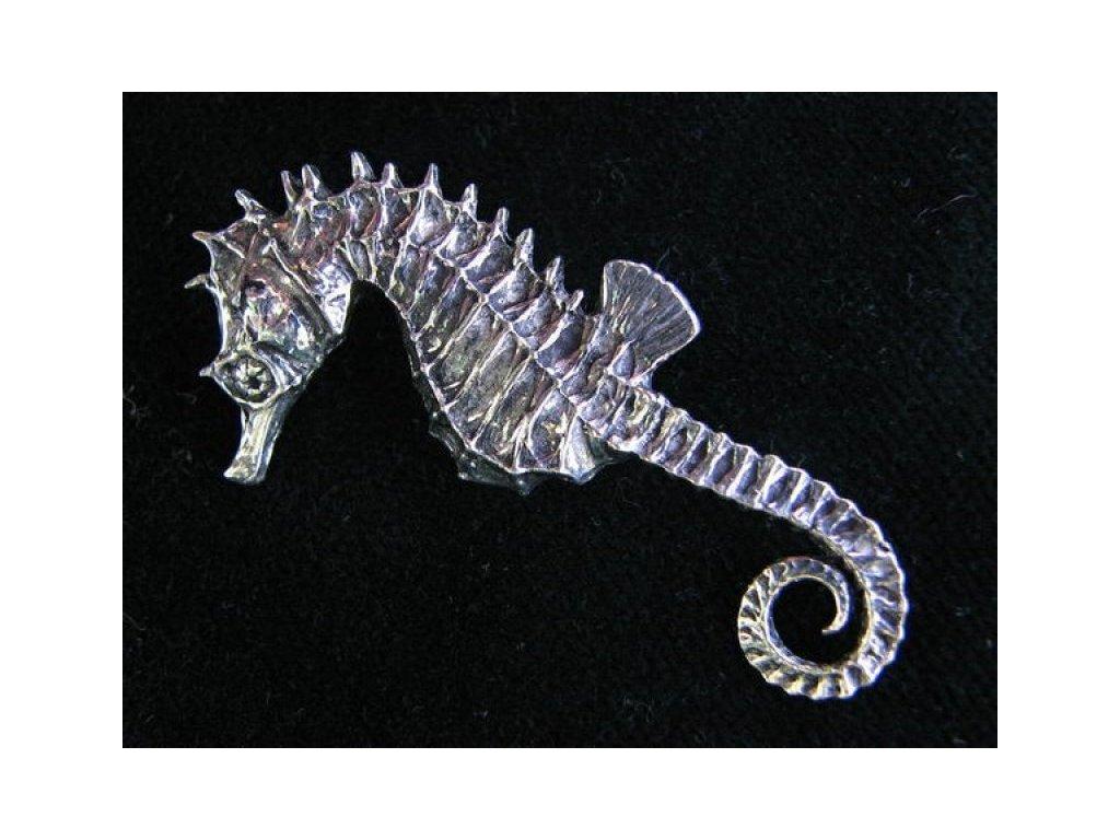 Cínový odznak Mořský koník